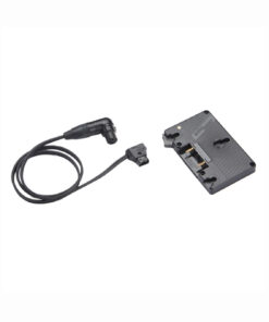 A/B Gold Mount Battery Bracket with P-Tap to 3-pin XLR cable